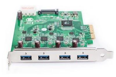 Picture of Fresco FL1100 4-port USB 3.0 PCIe Card (high performance)